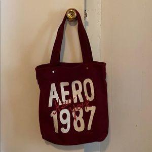 Aero canvas tote bag